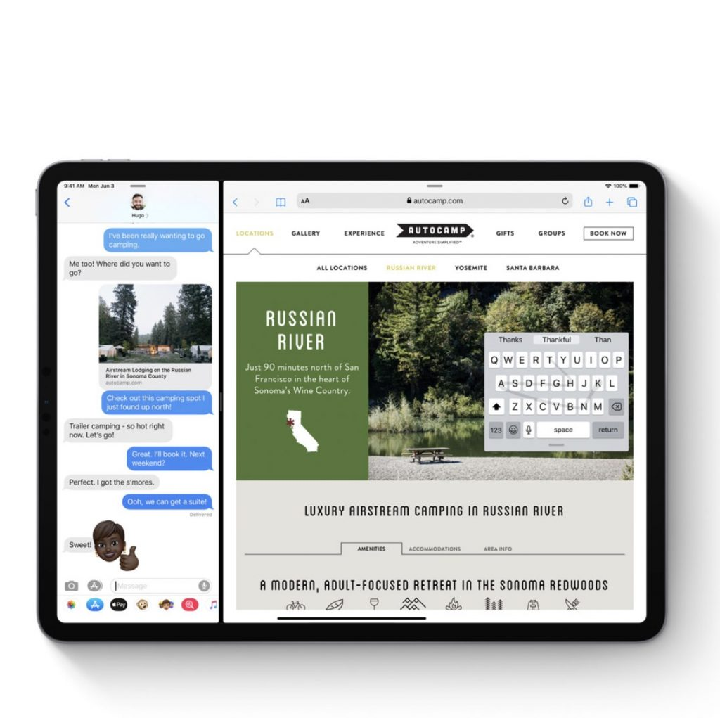 Best Apple news for parents: iPadOS will allow you to overlay a small keyboard over your web page, so you can type/text and scroll at once!