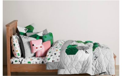 The new Minecraft x Pottery Barn Kids collection will make blockheads everywhere squeal!