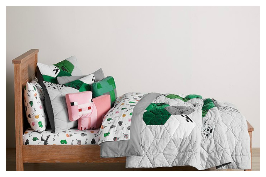 The new Minecraft x Pottery Barn Kids collection for your