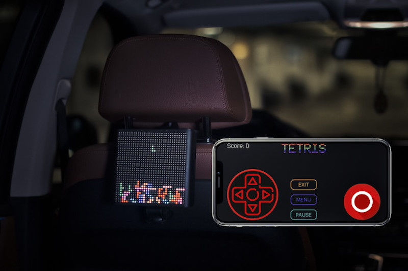 Mojipic: Voice-actived LED screen for your car's rear window.