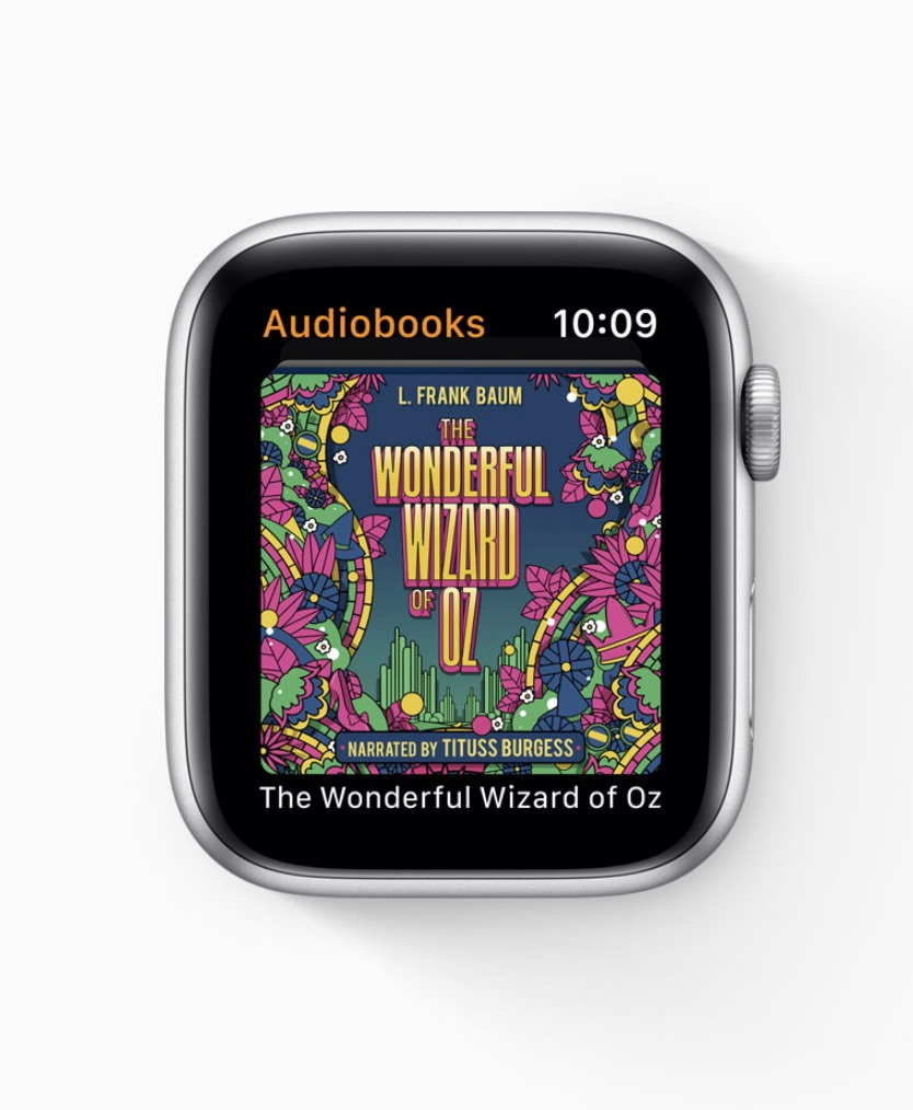 The new Audio Books app syncs your current title to your Apple Watch automatically