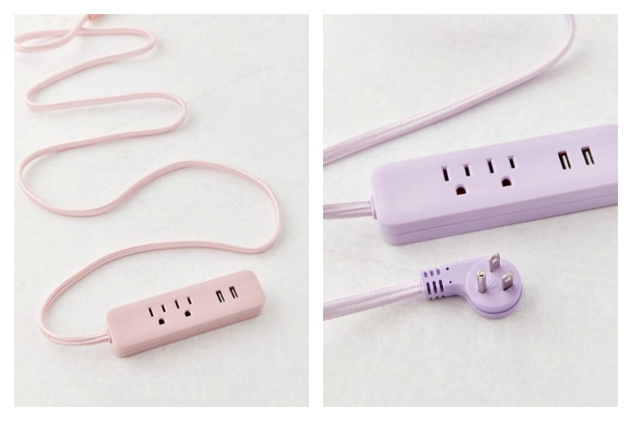 Power strips go pastel