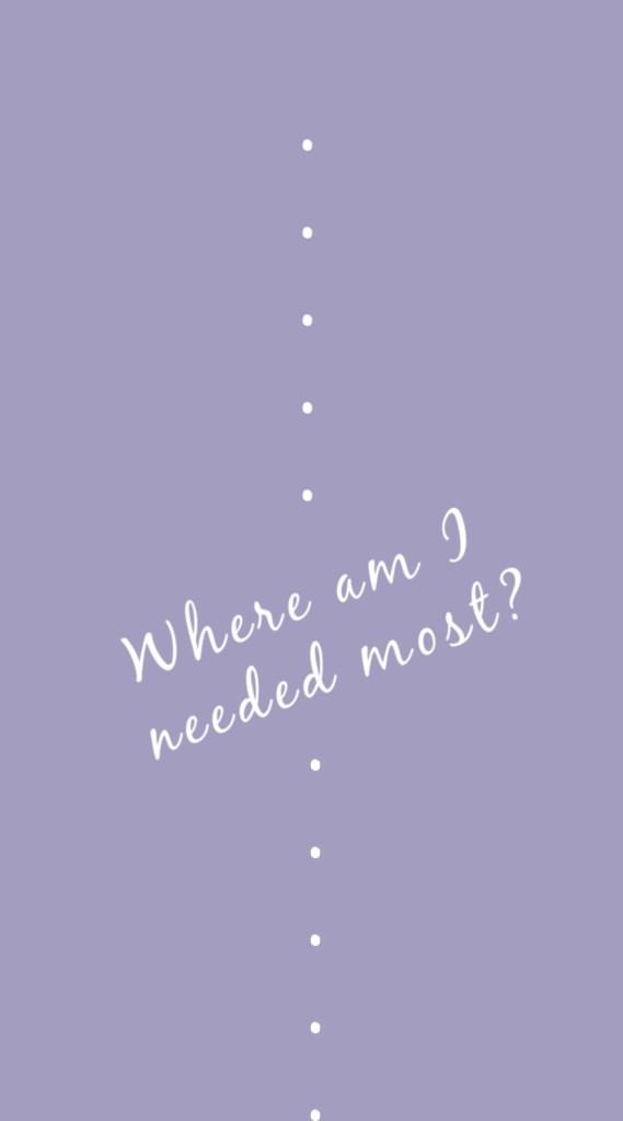 Lock screen wallpaper for more mindful screen time from Cool Mom Tech: Where am I needed most?