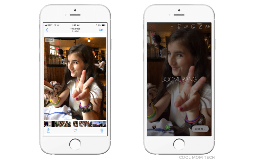 Instagram Stories trick: Turn your Live Photos into Boomerangs!