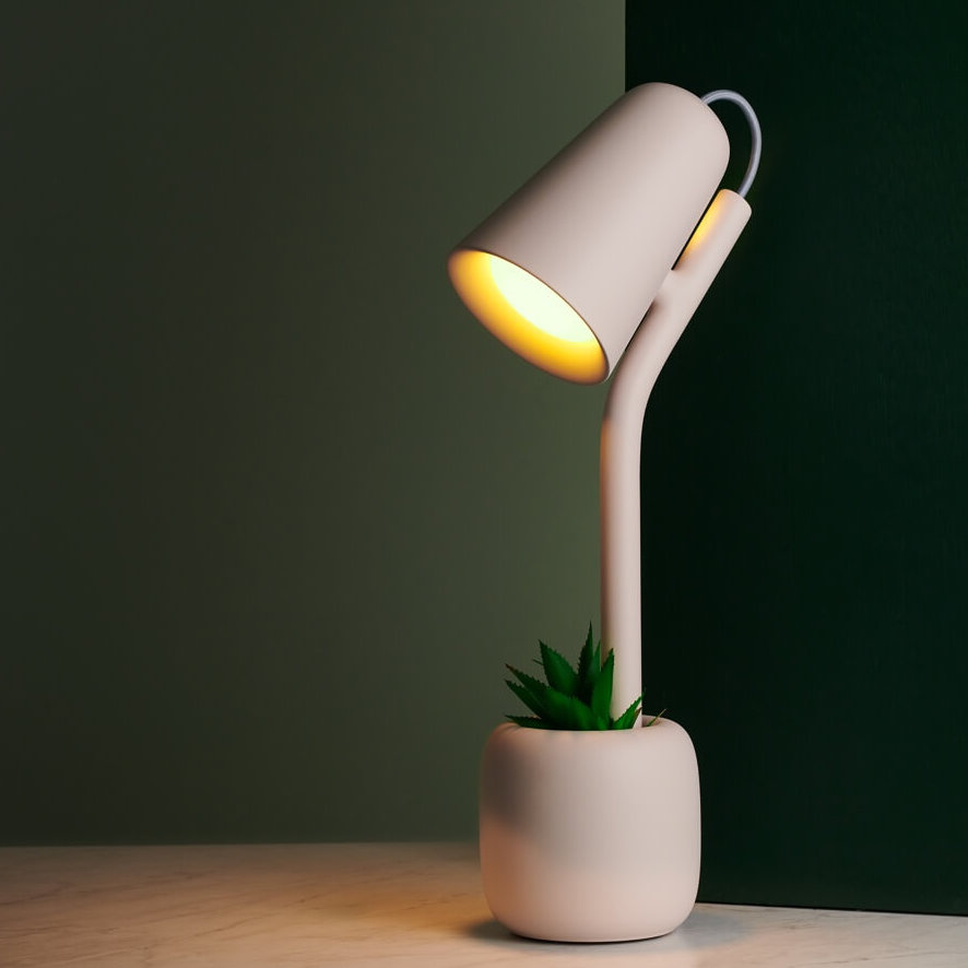 Gantri makes sustainable modern lighting from corn: Suyo desk lamp
