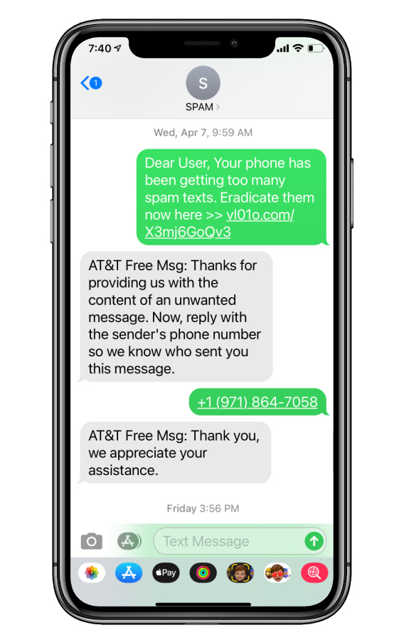 Reporting spam texts in a few very easy steps  | Cool Mom Tech