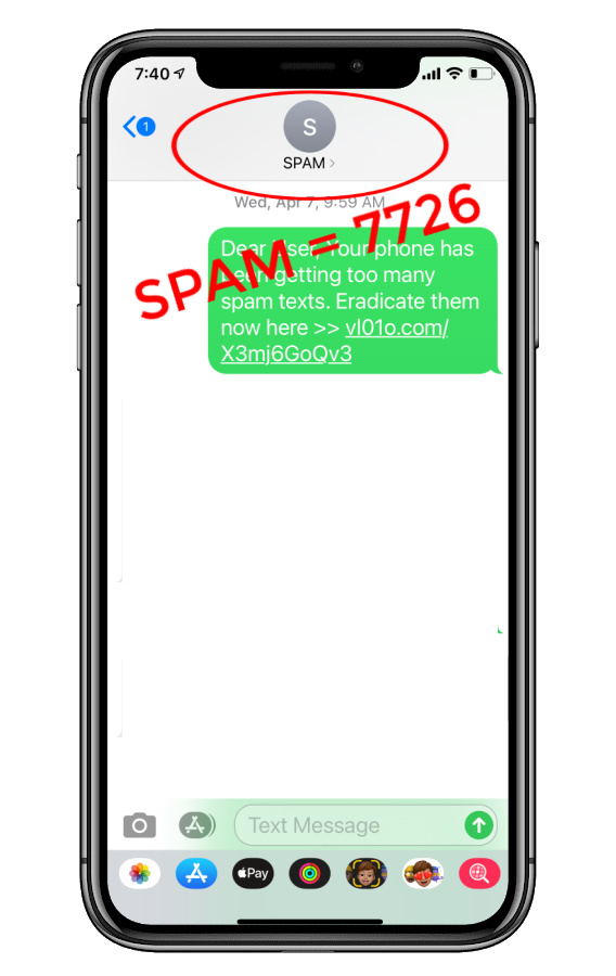 How to report spam texts: Forward to SPAM  | Cool Mom Tech
