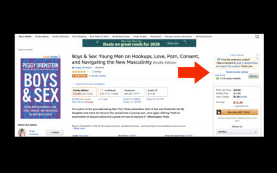 Use this browser extension to show you what Amazon books are available at your local library