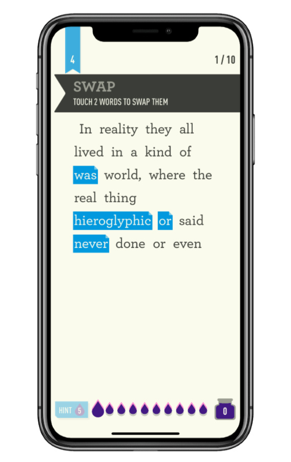 Dear Reader is a game of literary wordplay that makes you feel smarter, unlike most games