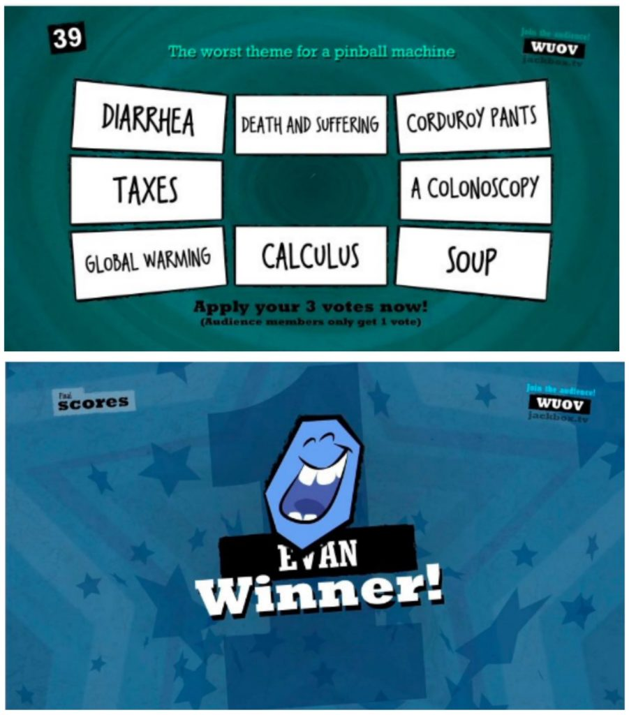 Safe socializing with tech: Quiplash game by Jackbox