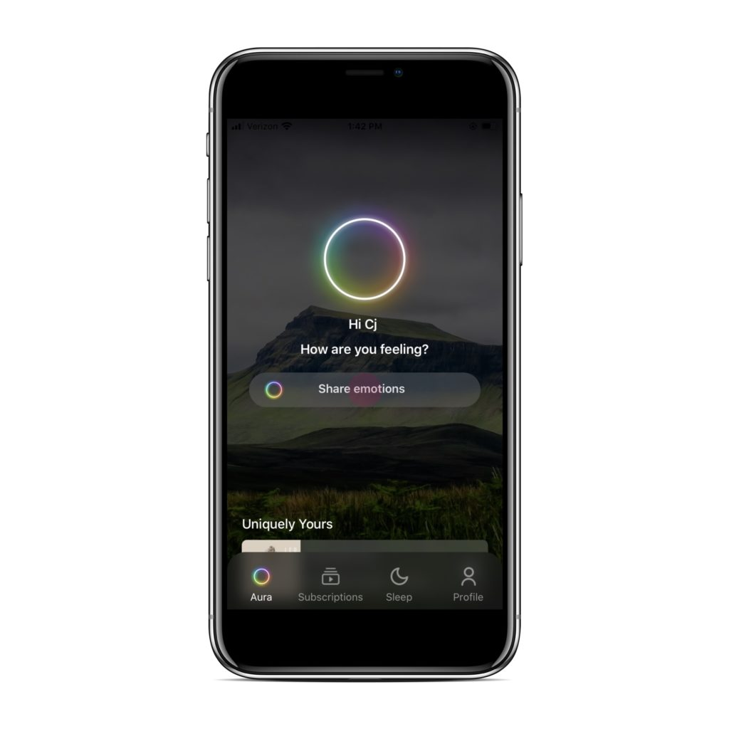 Meditation apps: Aura