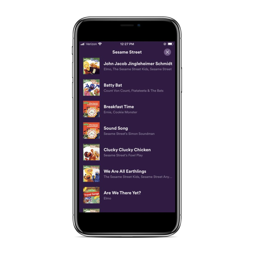 Spotify Kids app: We love the hand-curated playlists.