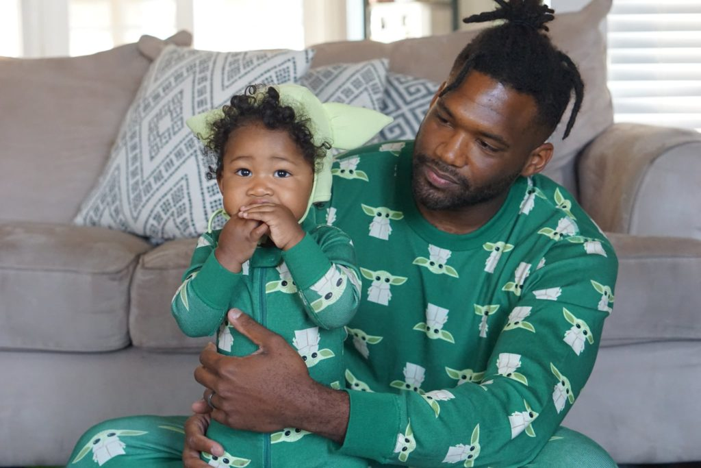 We're kind of obsessed with these daddy-and-me Baby Yoda pajamas from Hanna Andersson.