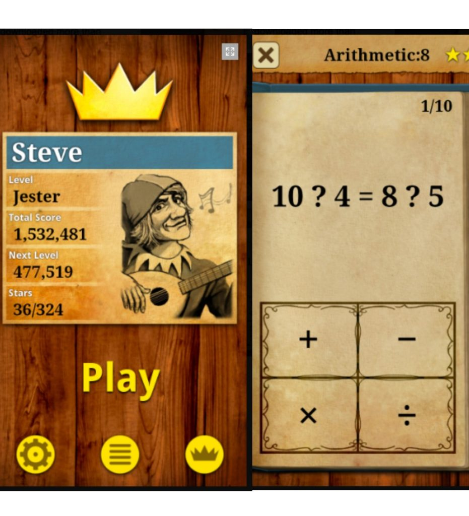 King of Math apps for upper elementary and middle school kids
