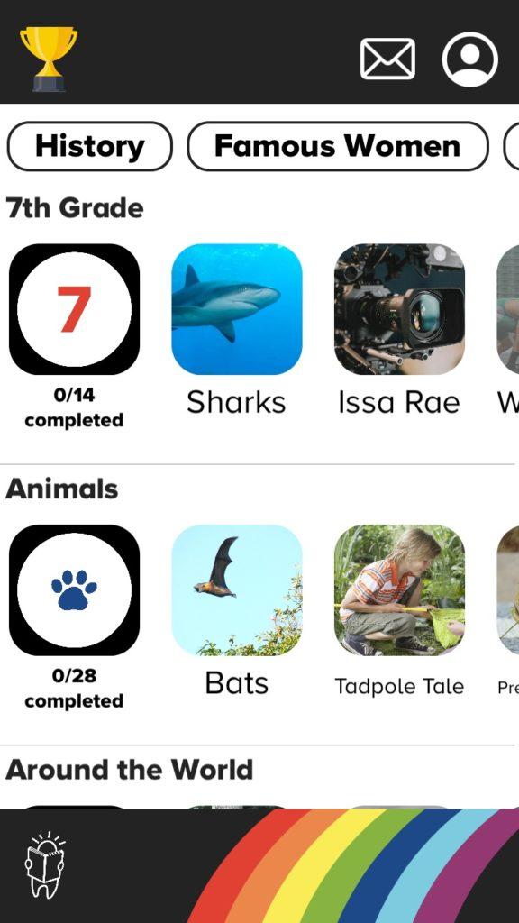 Peekaboo Studios' Reading Prep Comprehension app for middle school