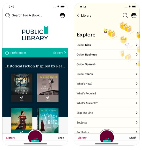 Libby by Overdrive reading app for upper elementary and middle school kids