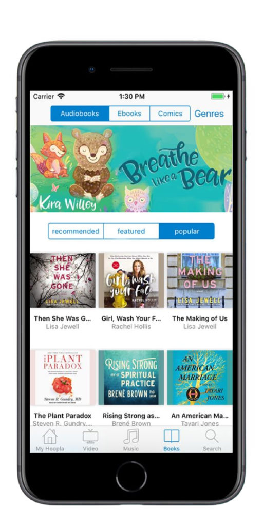 Best reading apps for kids: Hoopla digital gives you access to books, comics, and other media from your local library, free!