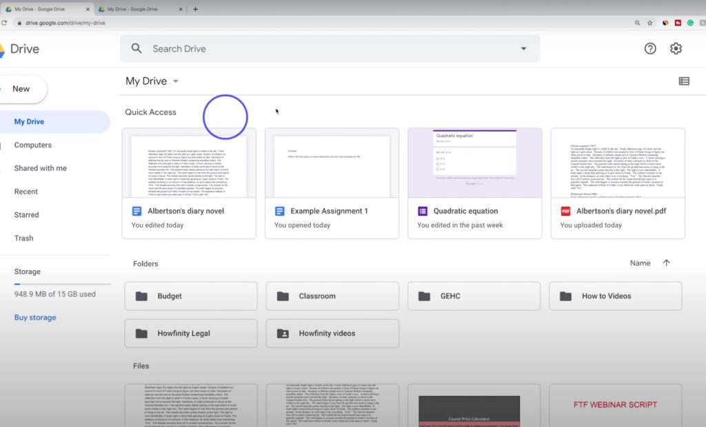 Best G-suite tutorials for online learning: How to Use Google Drive - Beginner's Guide from Howfinity