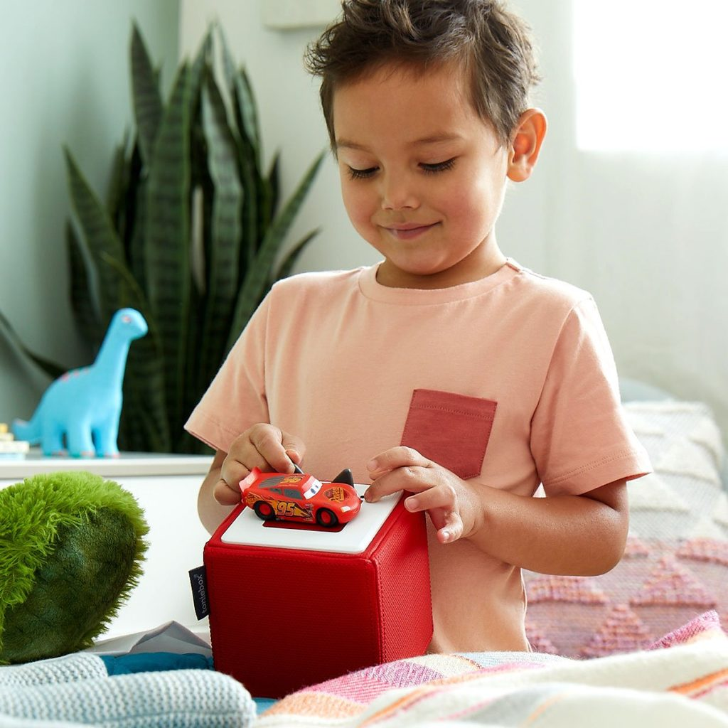 The new Toniebox lets kids choose their own content using figurines of familiar characters.