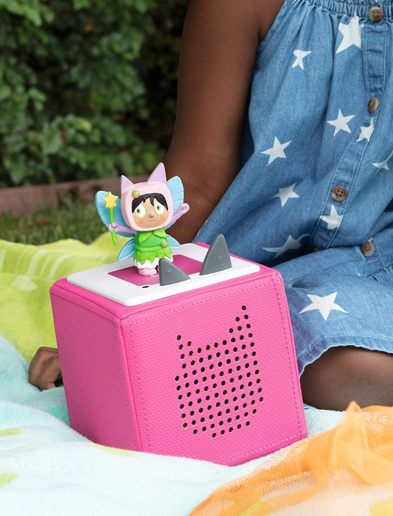 The Tonies screen free entertainment center and music player for kids. Lots of licensed characters plus originals like this cute fairy