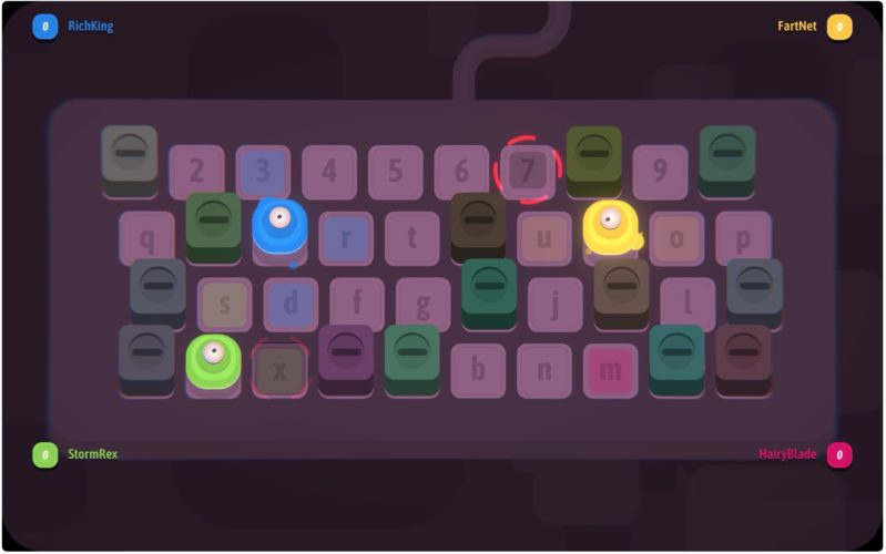 5 fun typing games for kids: keyWars challenges kids to compete against friends, with a keyboard as the battleground.