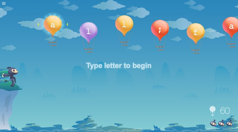 5 great typing games for kids: You get the perfect blend of lessons and games at Typing Club.
