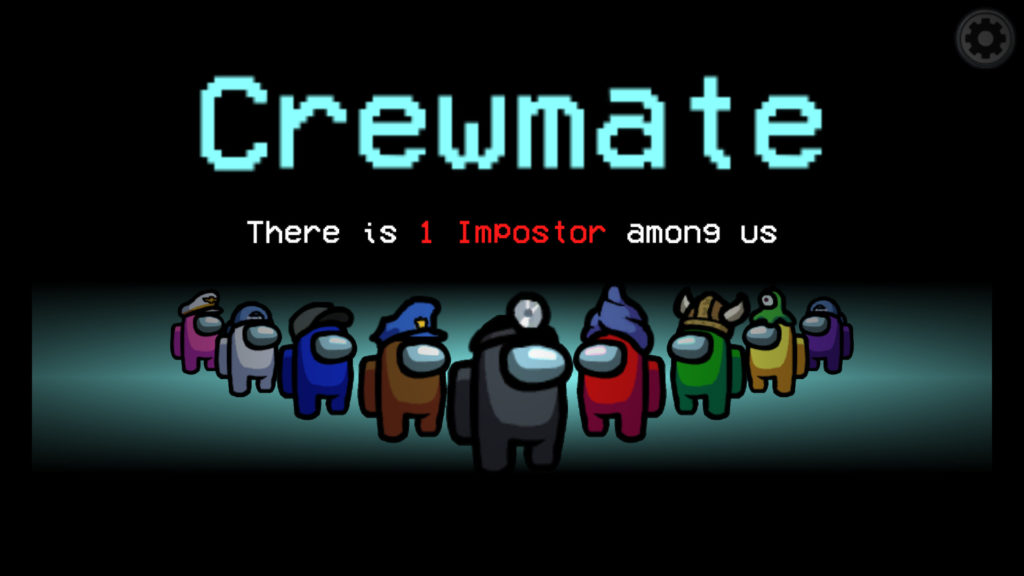 Among Us multiplayer game naming players a crewmate or an Imposter