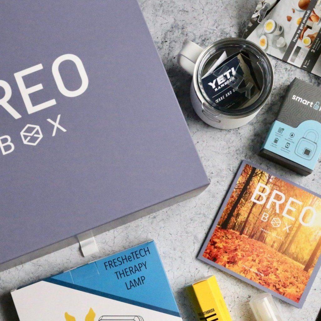 A Breo Box subscription sends cool tech and trendy gear each quarter