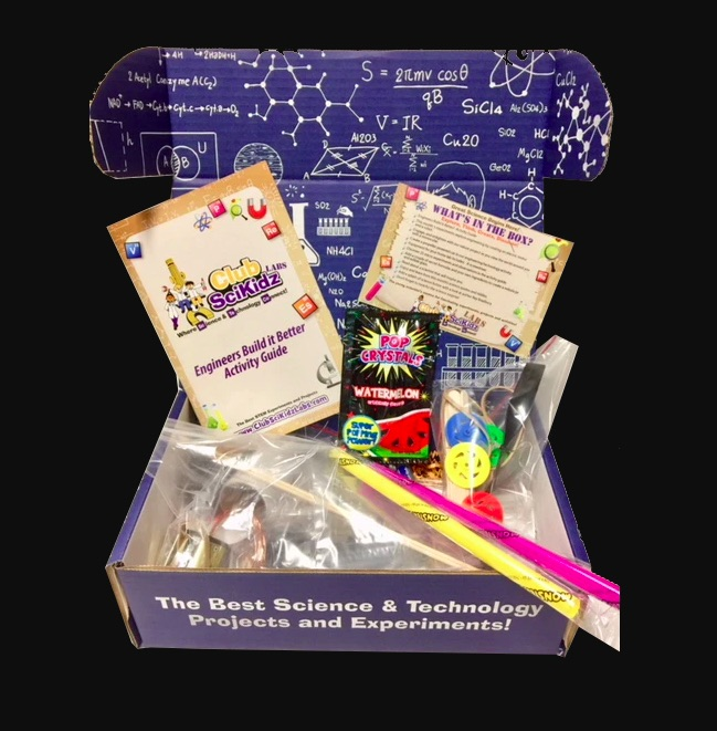 Club SciKidz monthly science subscription kit for kids who love STEM