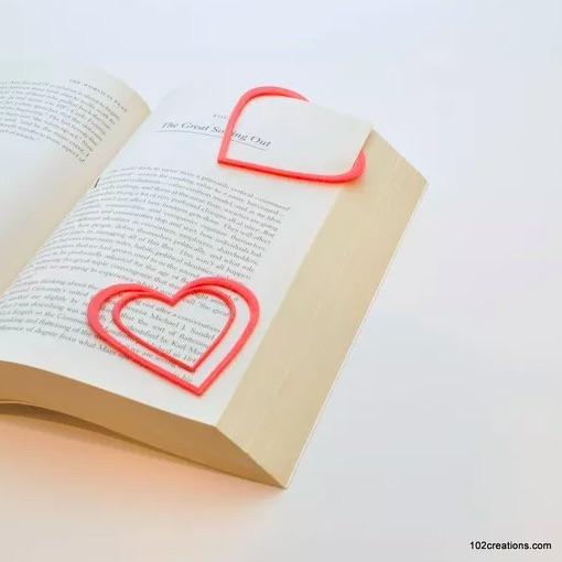 Easy to make Valentine's bookmark for kids by 3D Creations
