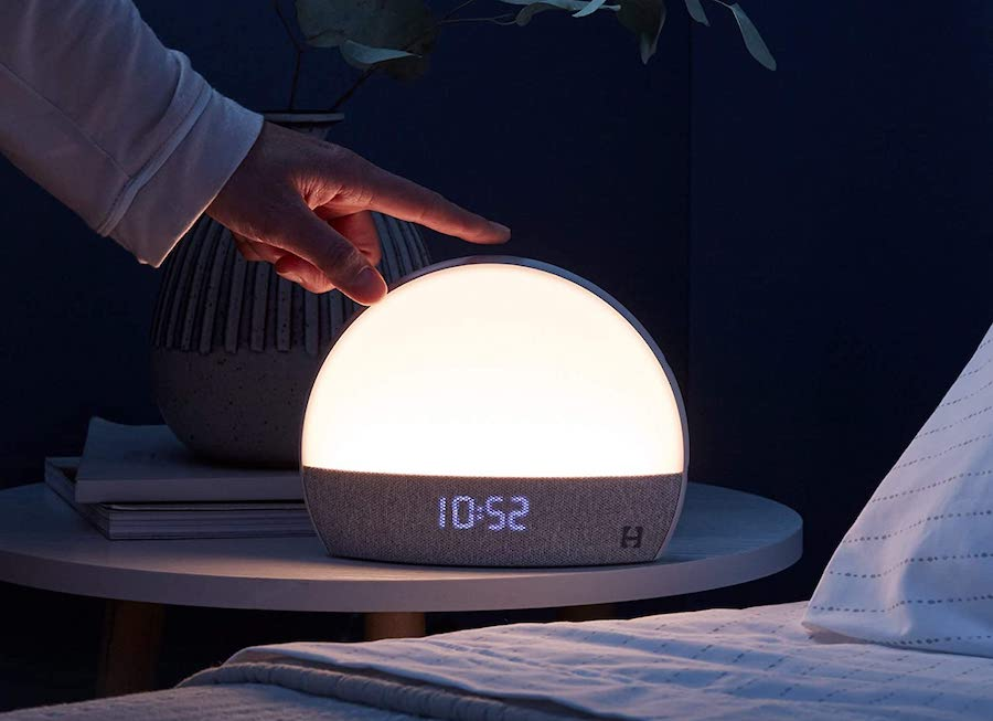 Tech tips for better sleep: The Hatch Restore is night light, white noise machine, and calming stories all in one.