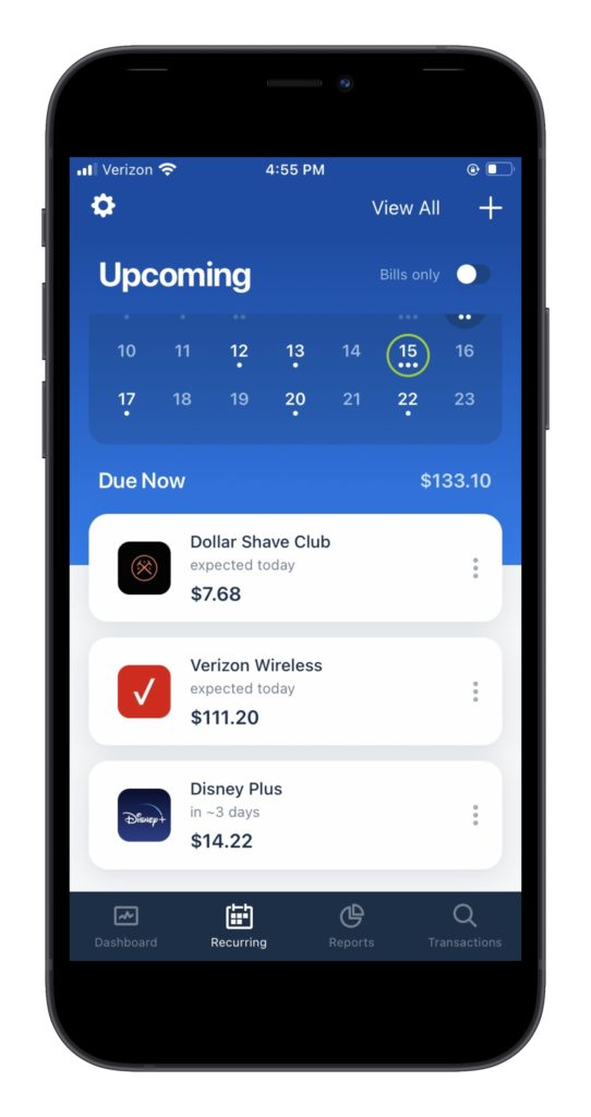 Apps to help you manage subscriptions: Truebill