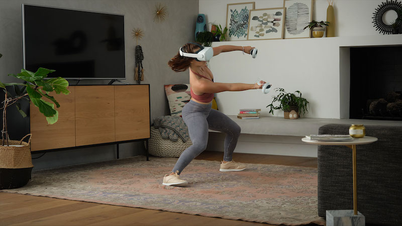 What it's like to exercise with the Supernatural VR exercise app on Oculus.