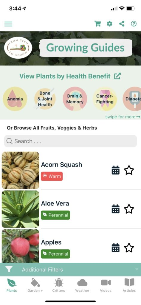 Grow your own edible food with From Seed to Spoon gardening app
