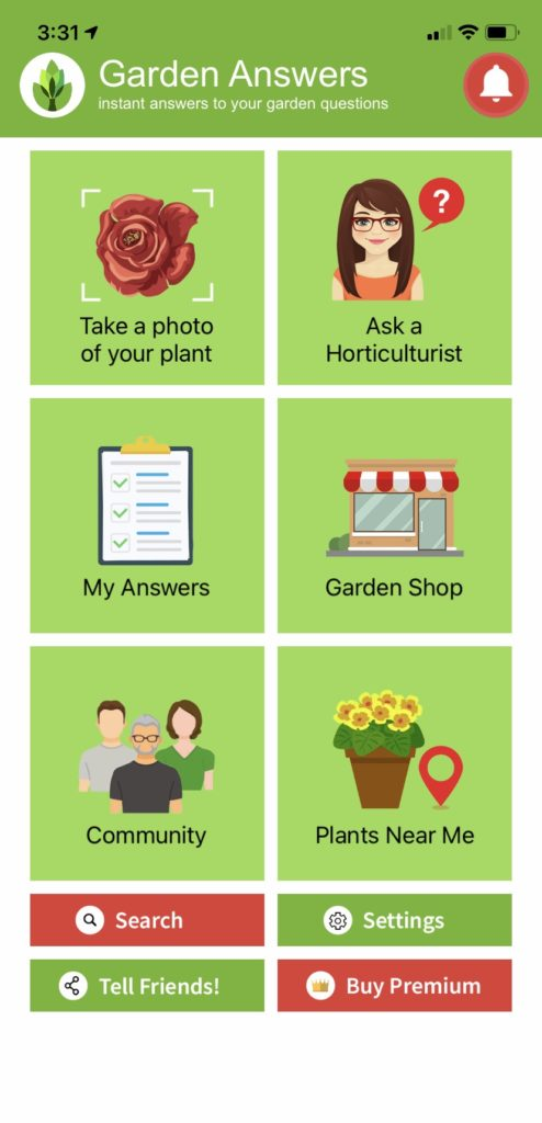 Use the Garden Answers gardening app to get answers to questions and help ID plants