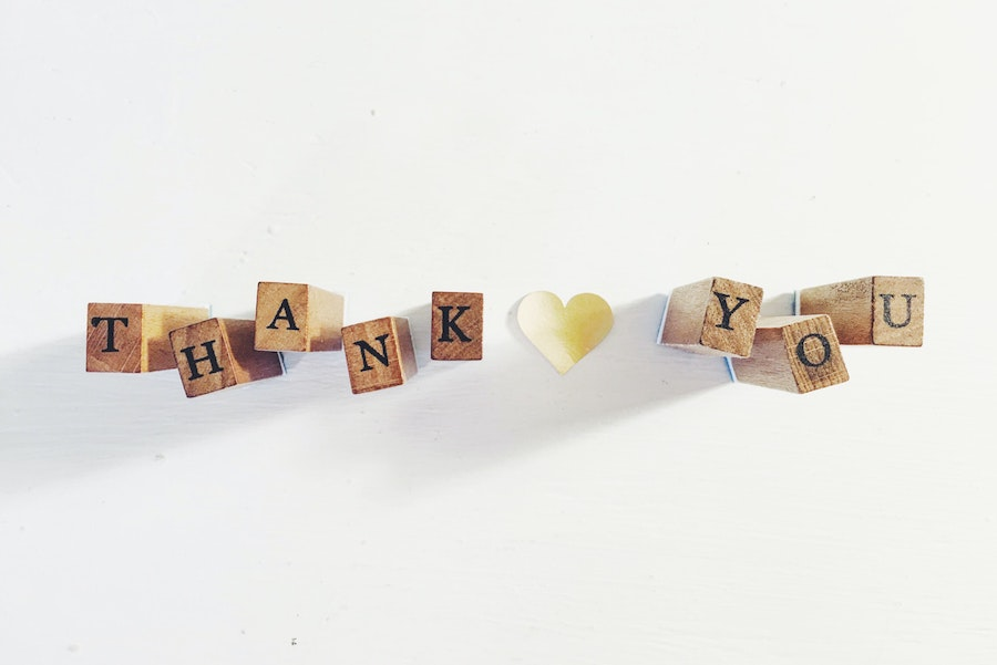 Write Thank You to teacher using wooden blocks to create a special video from your child
