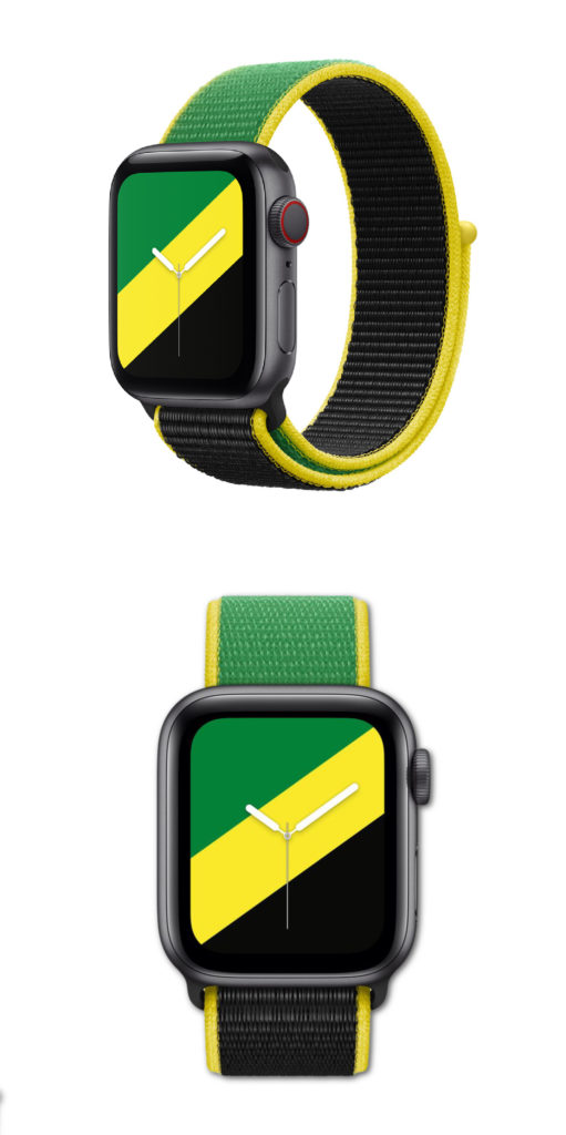 The new Apple International Sportsloop for Apple Watch representing the Olympic countries. Like Jamaica!