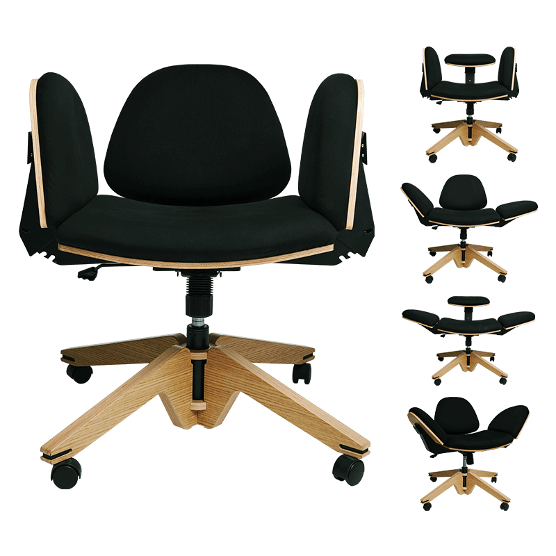 Cool home office gadgets: The transforming Be You chair.