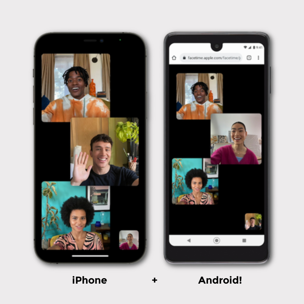 New iOS 15 features parents will love: New FaceTime Compatibility with Android and Windows phones, whoo!
