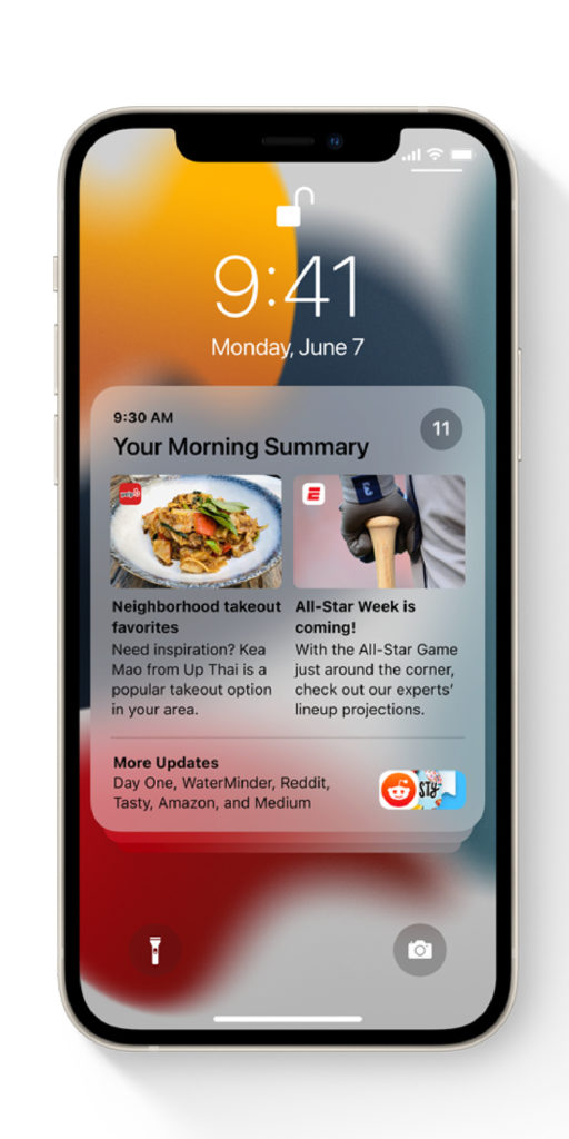 New iOS 15 features parents will love: The new notifications summary can be delivered later, to help you avoid distractions