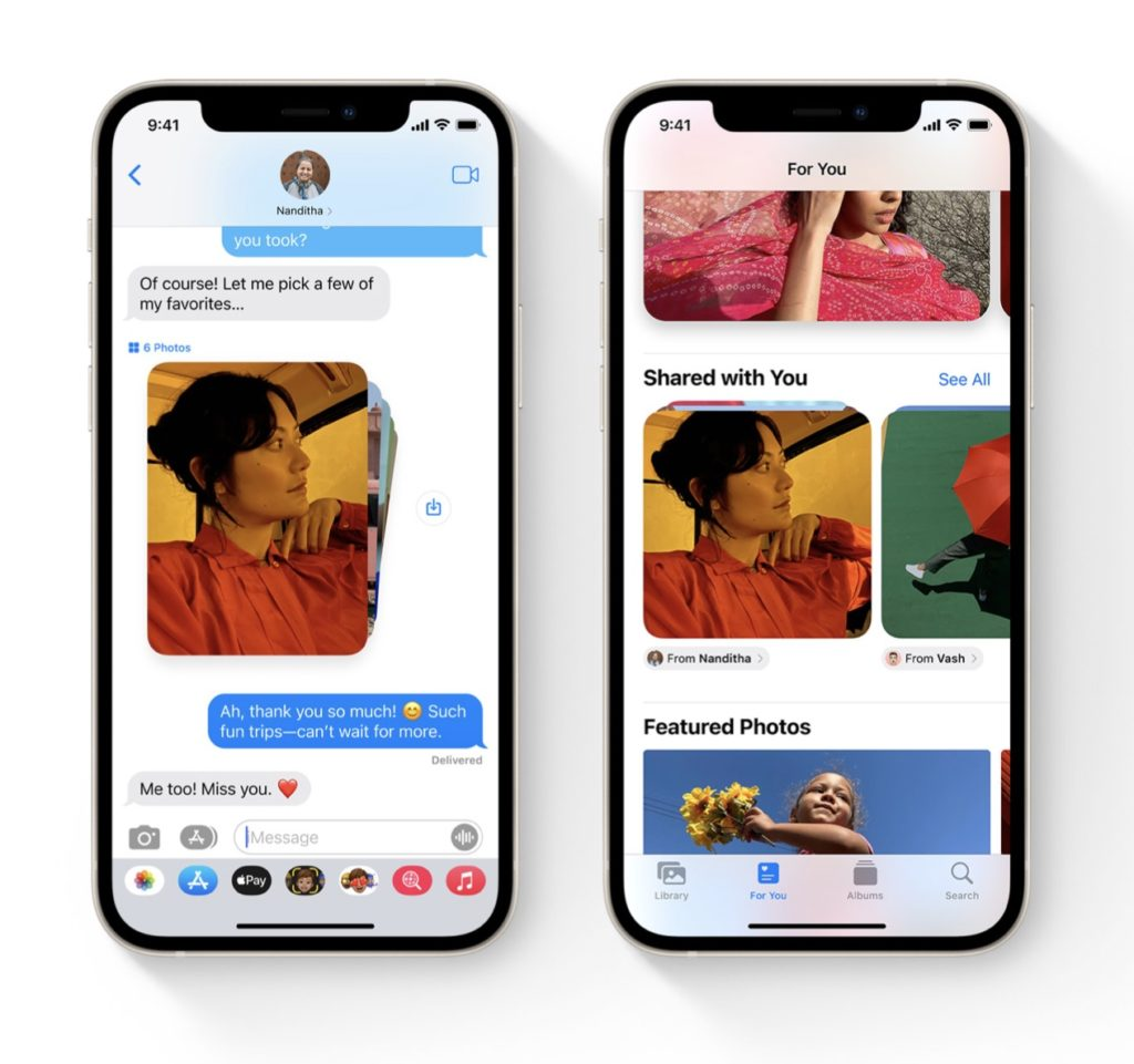 """New iOS 15 features parents will love: """"Shared With You"""" helps you keep track of links and photos that have been texted to you"""