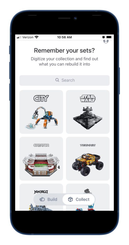 You can also log any existing LEGO sets to get started with the Brickit app.