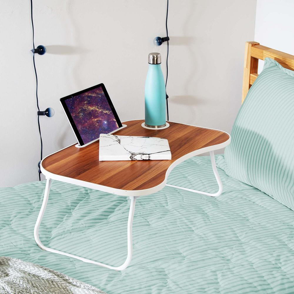 5 ergonomic laptop accessories you need for your work and study set-ups: Handmade wooden laptop desk   Vailiai Design