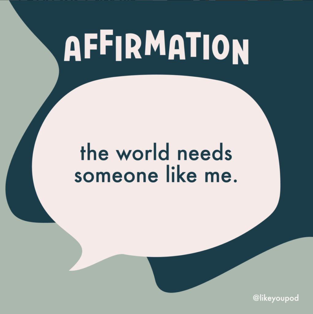 Find affirmations for kids from the Like You Podcast for kids