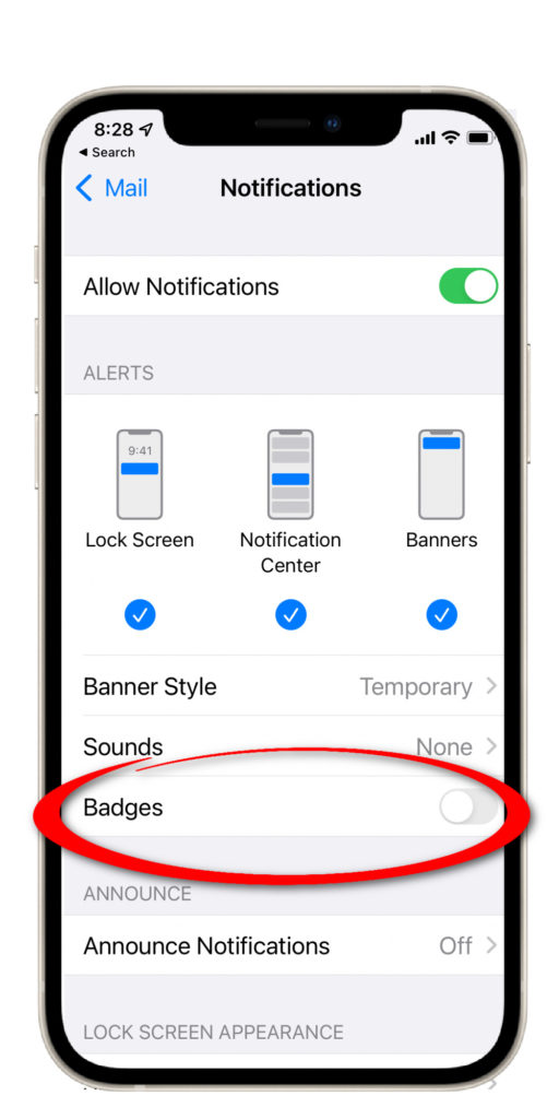 Destress tip: how to hide those unread email counts on your iPhone | Cool Mom Tech