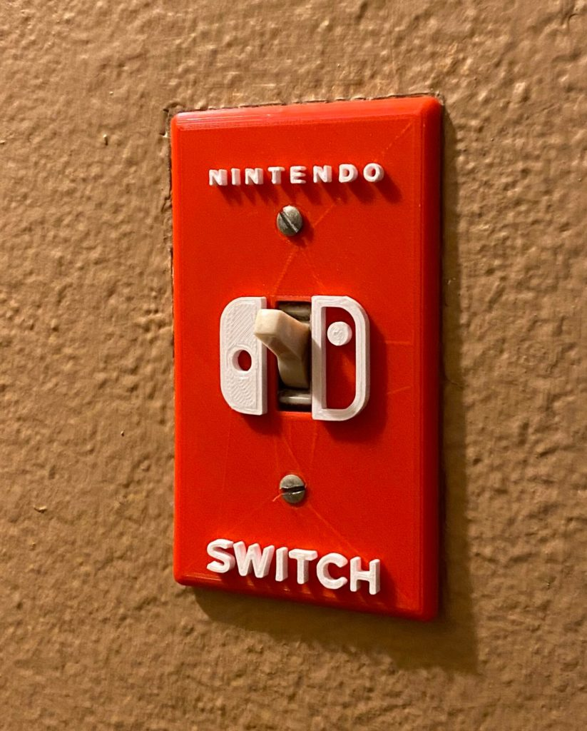 Nintendo Switch light plate on Etsy: such a fun gift for a gamer!